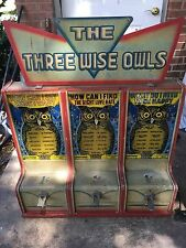 """Exhibit Supply Co. Triple Amusement Games """"The Three Wise Owls"""""""
