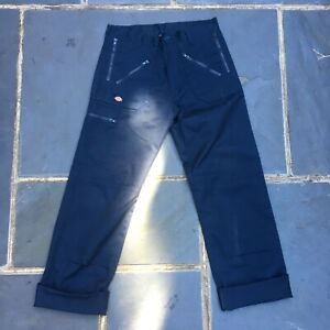 Brand New dickies double knee navy workwear trousers in size 34 waist 32 leg