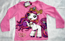Pony Pferde Filly Kinder Langarmshirt Glitzermotiv Pulli rosa  Gr.98 Pullover