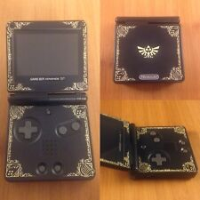 Custom Nintendo Game Boy Advance SP-AGS-101- GBA -Brighter Screen! Zelda Decals