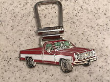CHEVY Square Body Truck Key Chain~Red & White