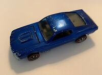 1968 Vintage Mattel Hot Wheels Redline Blue Custom Mustang