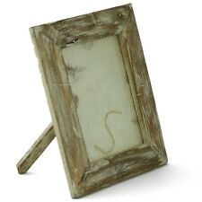 "Rustic handmade wooden picture frame 8""x6"" Reclaimed Teak Wood. Whitewash"