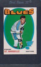 1971/72 OPC O-Pee-Chee #038 Frank St. Marseille Blues EX *18
