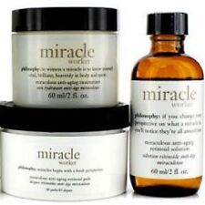 Philosophy MIRACLE WORKER  MOISTURIZER 2 oz + PADS -60 + RETINOID SOLUTION! NEW!