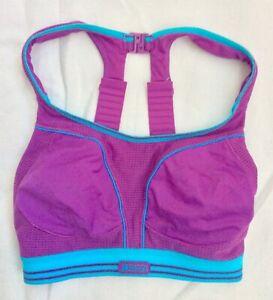 Shock Absorber Ultimate Run Bra Purple/Turquoise 32D *worn just a few times*