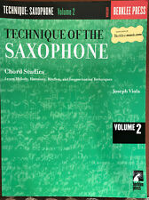 Technique of the Saxophone Vol 2 Chord Studies Sax Music Lesson Berklee Book