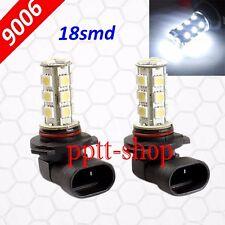 9006-HB4 LED 18 SMD White 6000K Xenon Headlight 2x Light Bulbs #b1 Low Beam