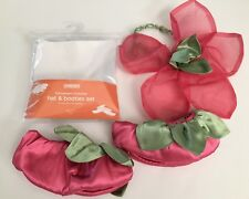 NWT Gymboree 2T-3T Pink Fairy Hat & Booties Halloween Costume Headband & Shoes