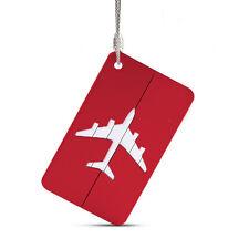 1Pc Travel Aluminium Plane Luggage Tags Suitcase Name Address ID Baggage Label