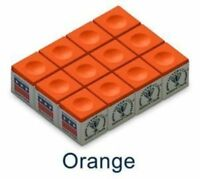 One Dozen ORANGE Silver Cup Pool Cue Chalk .