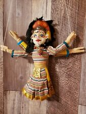 """12"""" Nepal Handmade Dancing Doll Double Face Puppet DOLL Marionette Wood Cloth"""