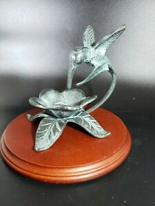 Metal Hummingbird Figurine Keys Trinket Tray San Pacific Int'l. SPI Brass/Bronze