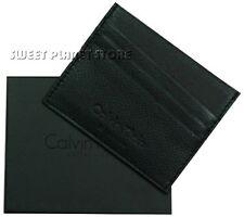 Portafoglio Uomo Calvin Klein Nero Pelle Tasca Porta carte Made in Italy