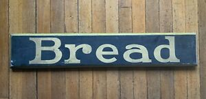 Vintage Bread Bakery Wooden Sign Brown Gold  salvage shop display