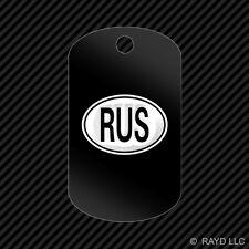 Russia Oval Keychain GI dog tag engraved many colors  country code RUS