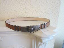 Balmain Metallic Buckle Men's Leather Belt size 95 cm