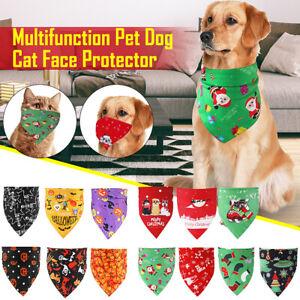 Pet Dog Puppy Bandana Bibs Towel Scarf Christmas/Holloween Gift Triangl