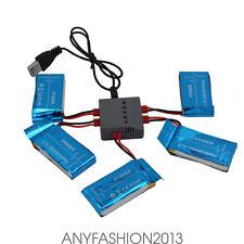 5pcs 1200mAh Lipo Batteries+5 in 1 3.7V USB Charger fr Syma X5 X5C Quadcopter fx