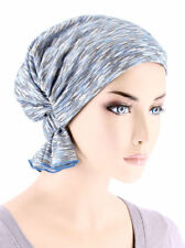 Abbey Cap ® Chemo Hat Cancer Beanie Scarf Blended Knit Heather Blue