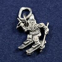 Santa, Elf, Dwarf or Cupid Skiing - Vintage Charm - 925 Sterling Silver