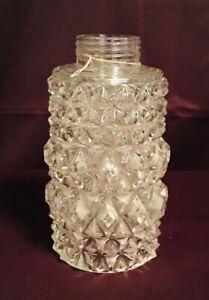 Vintage Lead Crystal Hobnail Globe