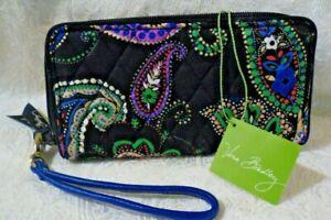 Vera Bradley Grab & Go Wristlet Wallet Clutch Multi Color Paisley NWT FREE SHIP!