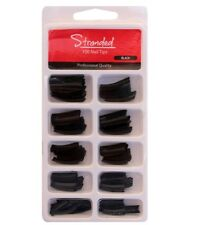 100 Faux Ongles Tips Capsules - Noir - de Stranded - 100 Black False Nails