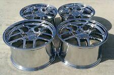 "Chrome C5 Z06 Style Corvette wheels 1997-2004 C5 & Z06 17x9.5/18x10.5"" COMBO SET"