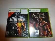 2 Lot Xbox 360 Games,Battlefield 3 -- Limited Edition  & Fallout New Vegas B259