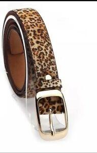 New Animal print ladies leather belt