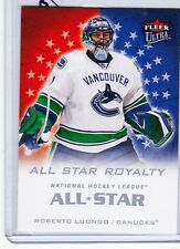 08-09 2008-09 FLEER ULTRA ROBERTO LUONGO ALL STAR ROYALTY ASR2 VANCOUVER CANUCKS