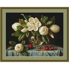 Counted Cross Stitch Kit Luca-S Magnolia #B465