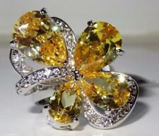 Unbranded Citrine Statement Costume Rings