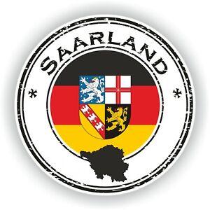 Saarland Flagge Aufkleber Motorrad Helm Autoaufkleber