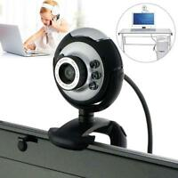 USB 50.0 M 6 LED Webcam Camera Web Cam With Built in Mic for Laptop Desktop £