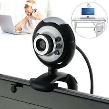 USB 6 LED 50 Mega Pixel HD Webcam Camera With MIC Microphone PC Laptop Skype BH