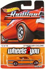 69 MERCURY CYCLONE orange - 2015 Hot Wheels Heritage - REDLINE