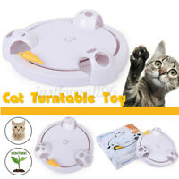 Cat Interactive Mouse Pounce Pet Toy Automatic Rotating Play Toys Mice Catch