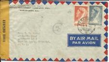 Suriname Sc#152,#154 Paramaribo 6/5/44 WWII Censor Airmail to Trinidad