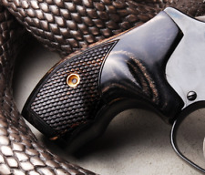 Altamont S&W J Frame Round Boot Grips Silverblack Snakeskin