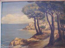 Peinture bord de mer signée cote d'azur début 20èmes