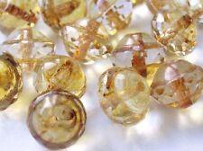 20 Glasschliffperlen RONDELLE  8,7x7mm Topaz Geschliffene Glasperlen Beads E97