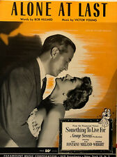 JOAN FONTAINE & RAY MILLAND sheet music SOMETHING TO LIVE FOR (1952)