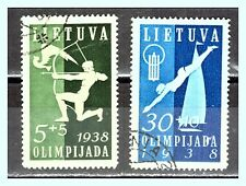 "LITHUANIA: 1938 Sc: LT-B43 & B45 ""1st Baltic Sport Games""  Used"