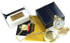 LEONARD COHEN 24K GOLD clad Signed Lyrics POCKET WATCH LUXURY Gift Case