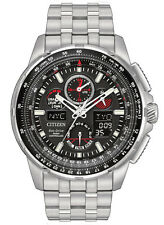 BRAND NEW CITIZEN ECO-DRIVE SKYHAWK AT BLACK DIAL RED ACCENT JY8050-51E NIB!