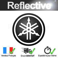 Sticker Logo YAMAHA Noir Rétro-Réfléchissant 7cm Adhésif Moto Reflective decal