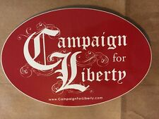 Campaign For Liberty Sticker Oval Red Ron Paul Decal Bumper Car