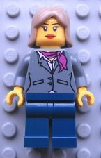 Lego Female Minifigure Gray JACKET Magenta Scarf City Town 10229